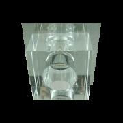 Lustre Spot Quadrado Liso Cristal Para Lâmpada G9 Embutir