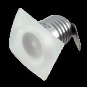 Mini Spot LED Quadrado 1w Para Embutir em Móvel