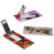 Pen Card 8GB Plástico Retangular Pequeno Branco Personalizado