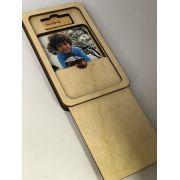 Pendrive 4g Retangular bambu + Case bambu p/ Foto 10x15 Wood Frame V