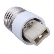 Soquete Adaptador Branco E27 para Lâmpada G9