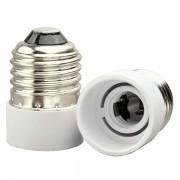 Soquete Adaptador Branco E27 para Lâmpada E14