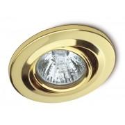 Spot de Embutir Direcionável Dourado para Lâmpada Dicróica