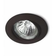 Spot de Embutir Zamac Direcionável Preto c/ Lâmpada Dicróica