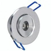 Spot LED 1W Completo Redondo Direcionável Em Alumínio