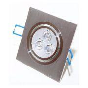 Spot LED 3W Completo Quadrado Direcionável Em Alumínio