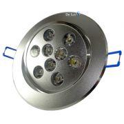 Spot LED 9W Completo Redondo Direcionável Em Alumínio