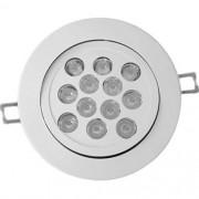 Spot LED 12W Redondo Direcionável Embutir Driver Bivolt