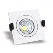 Spot LED Quadrado de Embutir COB 3W Bivolt
