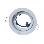 Spot Recuado De Embutir Redondo Orbital Lâmpada PAR20 Branco Fosco Bronzearte