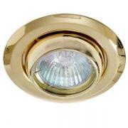 Spot Redondo Mini Olho de Boi Dourado Para Lâmpada Mini Dicroica GU10