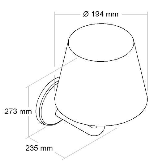 Arandela Quarto Casal Tipo Abajur com Chapéu Interna Para Lâmpada E27