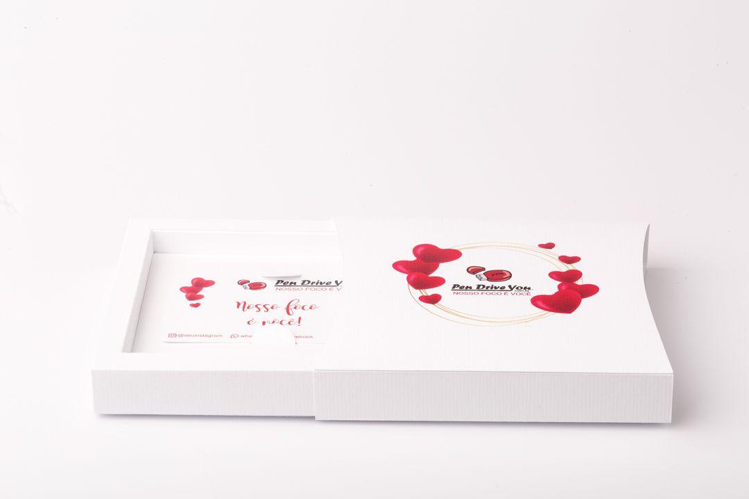 Case Cartonado Branco Modelo Chefa p/ Pen Card Personalizado