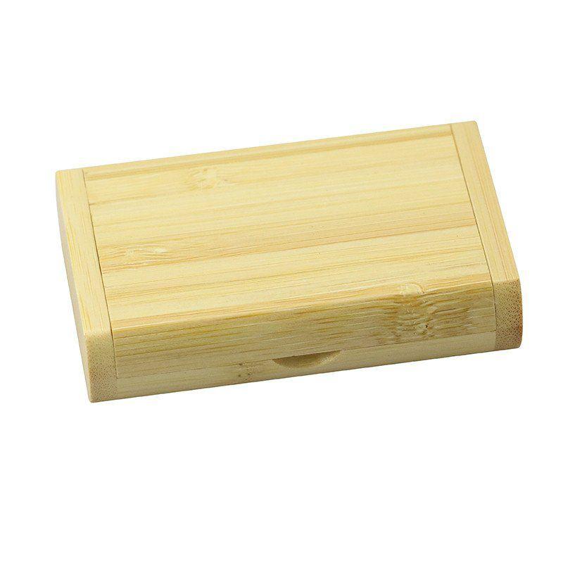 Case Madeira Bambú Retangular com Pen Drive 32GB Oval Bambú