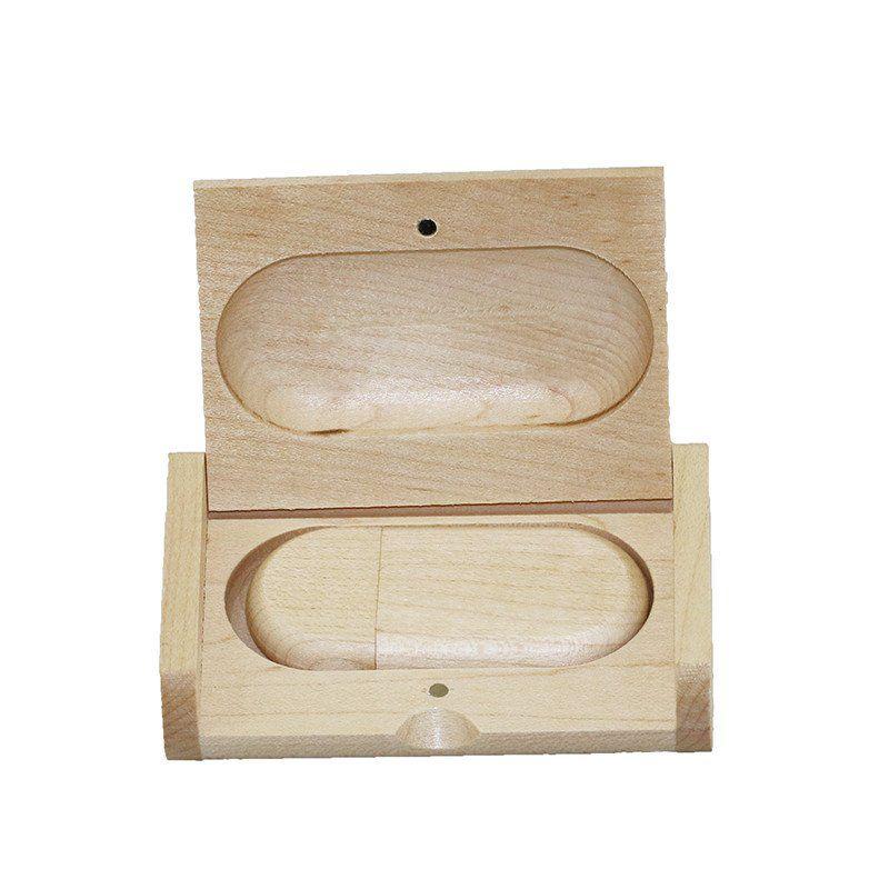 Case Madeira Maple Retangular com Pen Drive 8GB Oval Maple