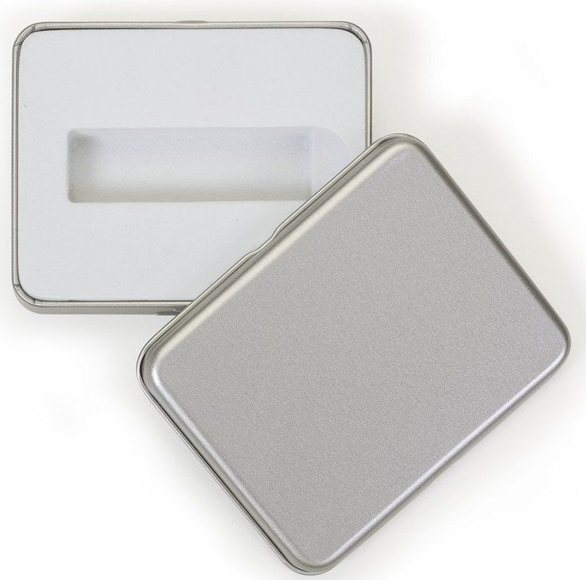Case Metal Prata Fechado Personalizado para Pen Drive