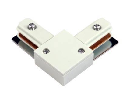 Conector 90° Preto ou Branco Para Trilho Eletrificado Com Fio de Cobre