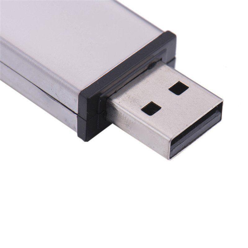 Pen Drive 32GB Couro Retangular Preto com Tampa Personalizado