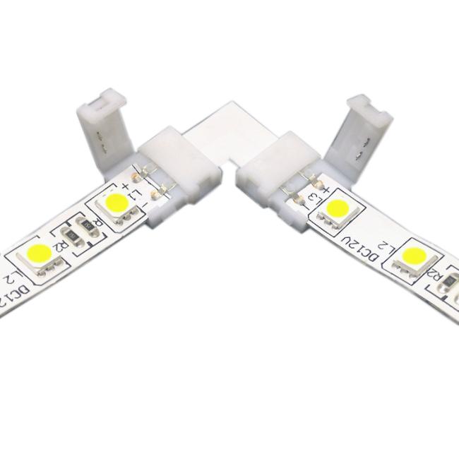 Emenda Para Fita LED 5050 Curva 90º