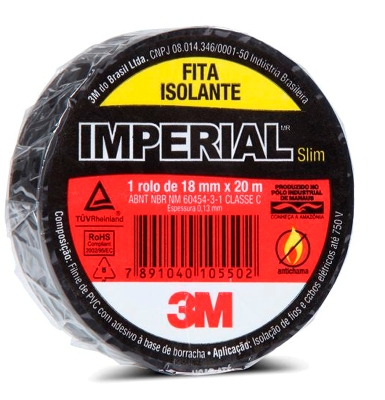 Fita Isolante Imperial Slim - 18mm x 20 metros - 3M