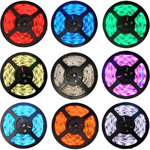 Fita LED 5050 12V IP65 com Silicone Rolo com 5m Luz Colorida RGB
