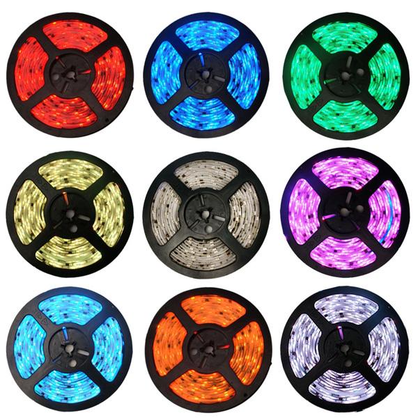 Fita LED RGB 5050 12V Luz Colorida IP65 Com Proteção de Silicone