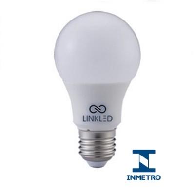 Kit 50 Lâmpadas LED Bulbo 9,8W Bivolt Certificação Inmetro Luz Branca