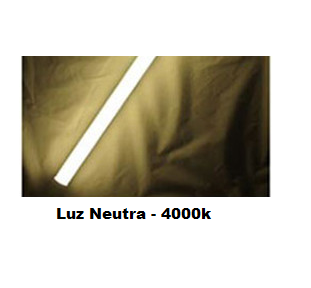 Kit 50 Unidades - Tubular LED T8 120cm 18W Luz Neutra - Frete Grátis