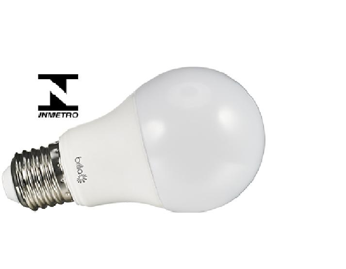 Lâmpada de LED Bulbo A60 7W Bivolt E27 Brilia - Certificação Inmetro
