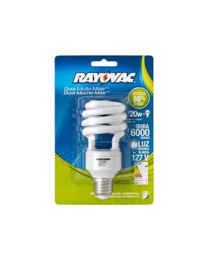 Lâmpada Fluorescente Compacta CFL 20 Watts Espiral -  Rayovac
