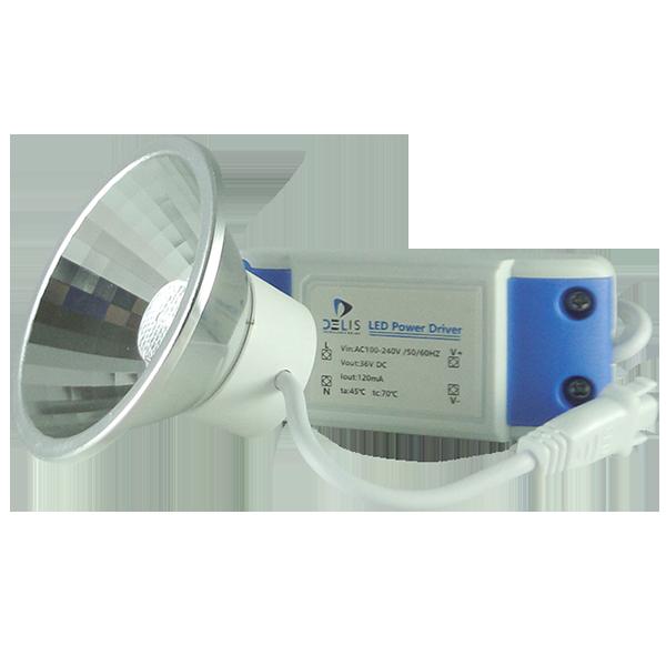 Lâmpada LED AR70 Refletora 5W Bivolt com Driver Externo