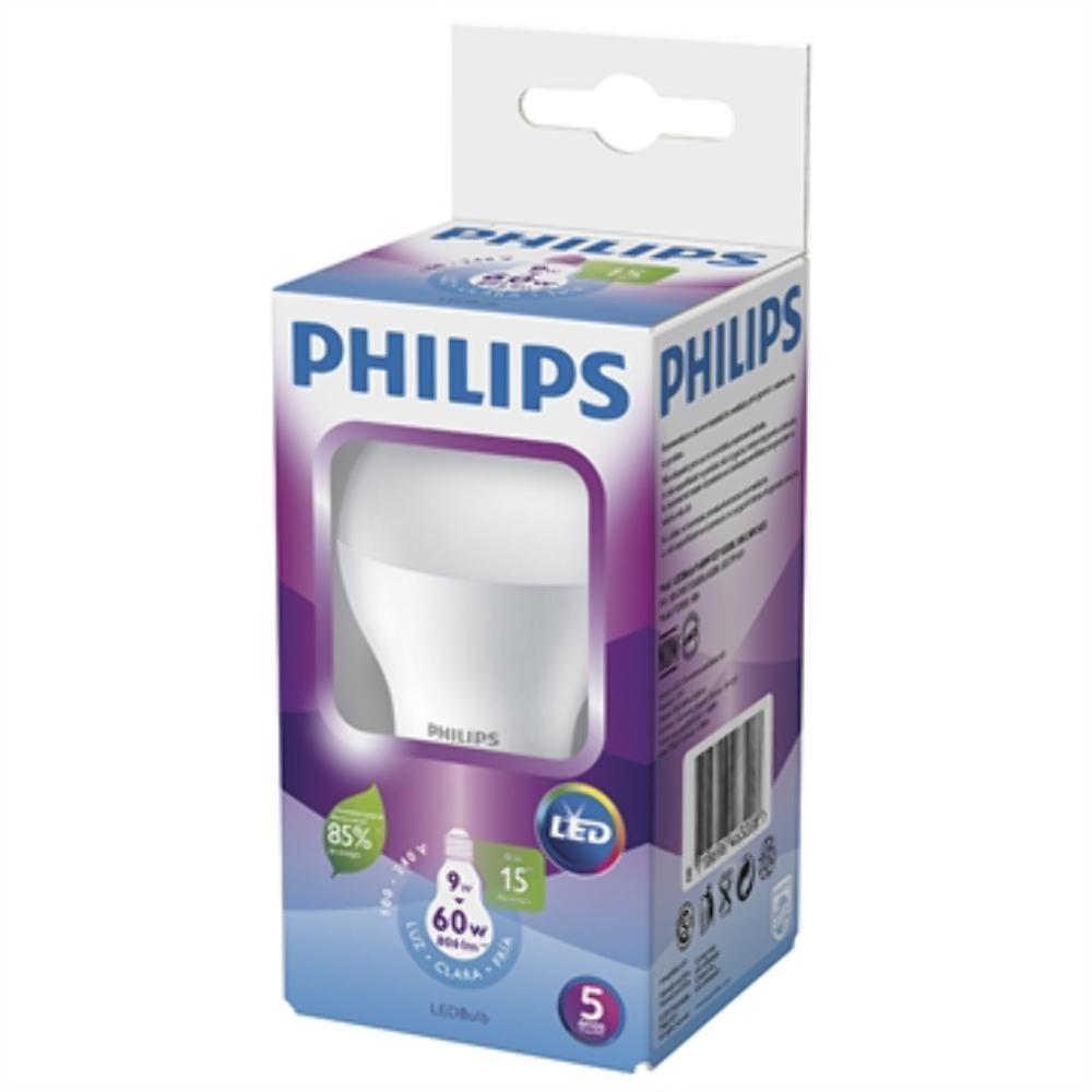 Lâmpada de LED Bulbo 9W A60 E27 Bivolt - Philips