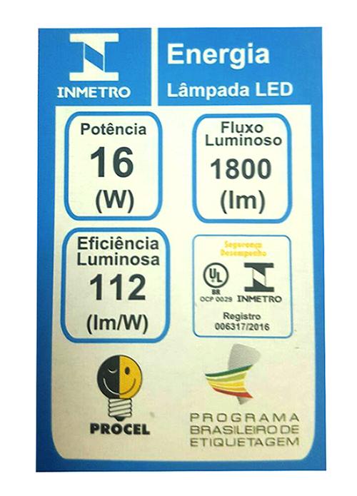 Lâmpada LED Bulbo E27 Bivolt 16W Philips com Inmetro