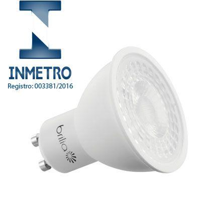 Lâmpada LED Dicroica 6,5W GU10 Bivolt Brilia com Certificação INMETRO