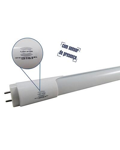 Lâmpada LED Tubular T8 9W 60cm Com Sensor de Presença Bivolt