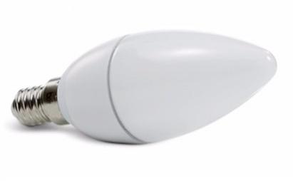Lâmpada LED Vela Leitosa E14 5 Watts