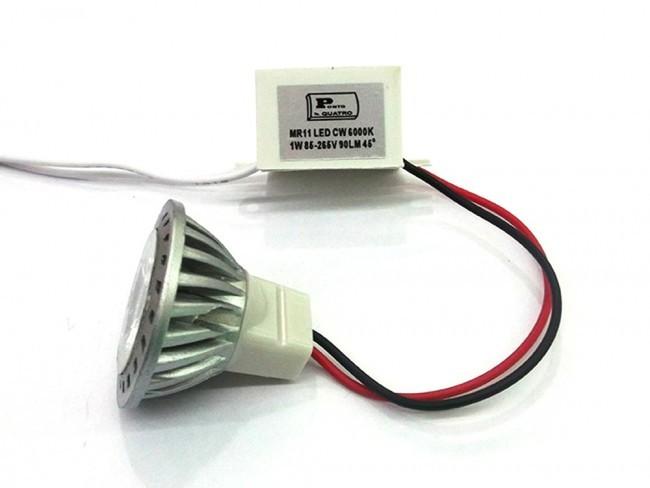 Lâmpada Mini Dicroica LED 1W Com Driver