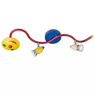 Luminária Infantil Centopeia para 2 Lâmpadas Dicroicas