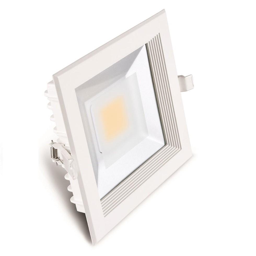 Luminária LED 30W Downlight Quadrada de Embutir Bivolt