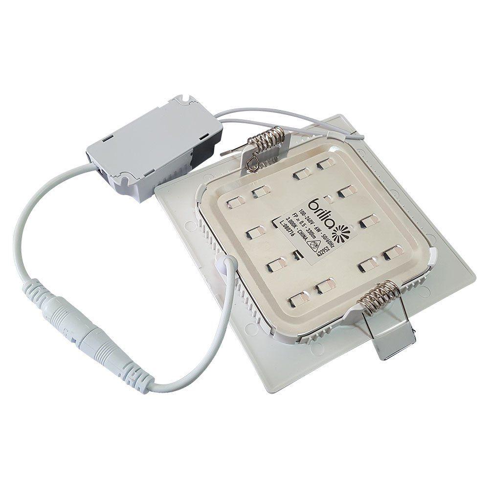 Luminária LED 6W Embutir Quadrado Bivolt - Brilia