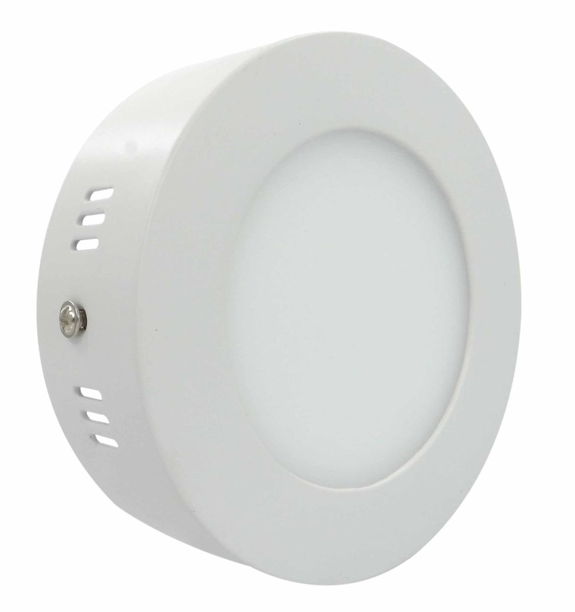 Luminária LED Redonda de Sobrepor 6W Bivolt Automático