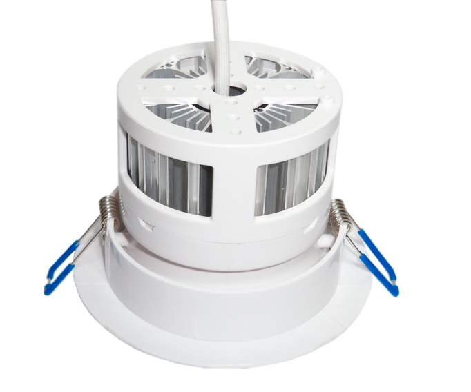 Luminária LED 9W de Embutir Branca c/ Difusor, Redonda, Bivolt