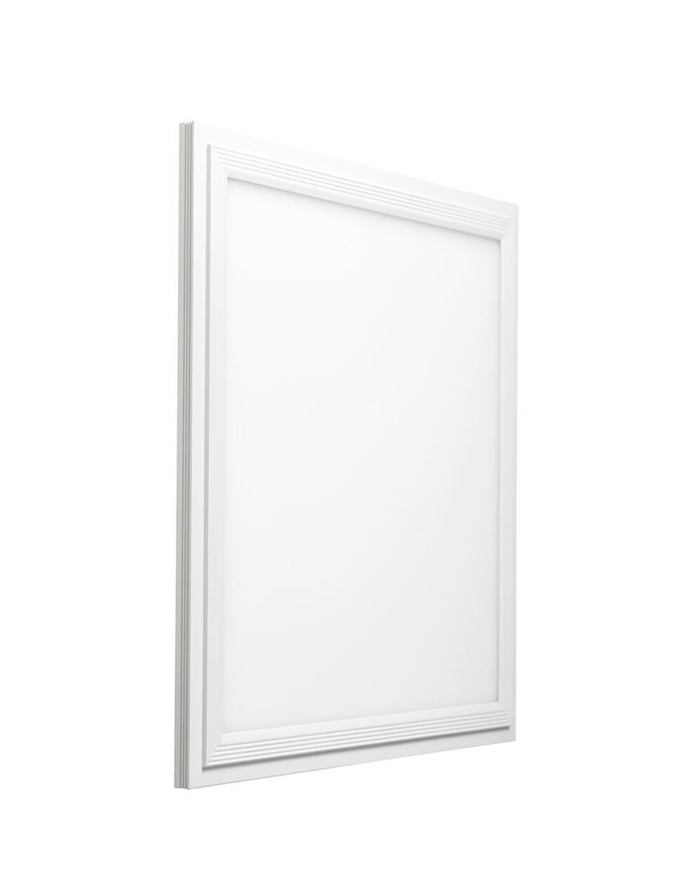 Luminária LED Slim 12W 30X30cm Borda Branca Quadrada Sobrepor Bivolt