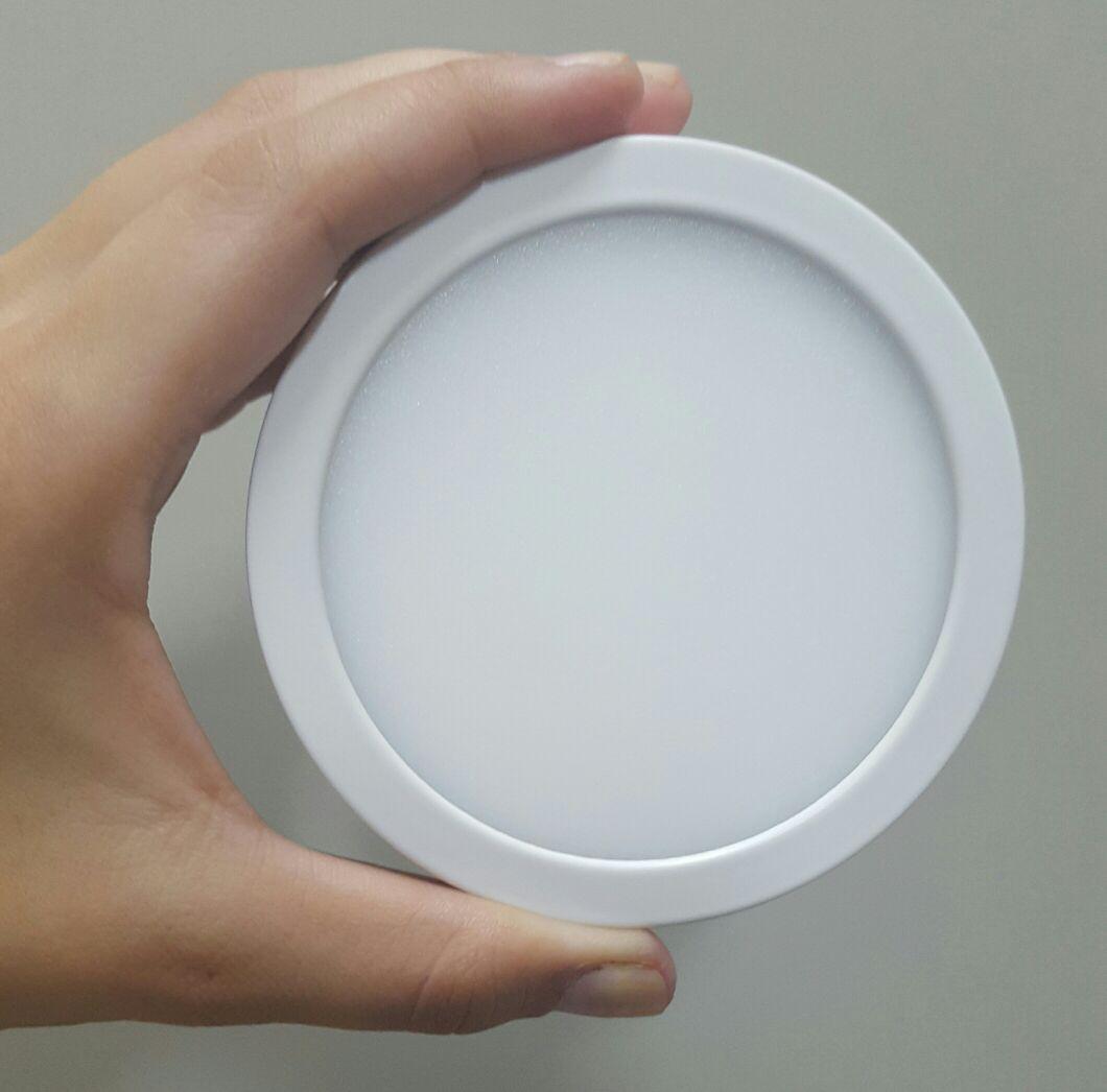 Luminária LED Sobrepor 6W Redonda Slim Bivolt