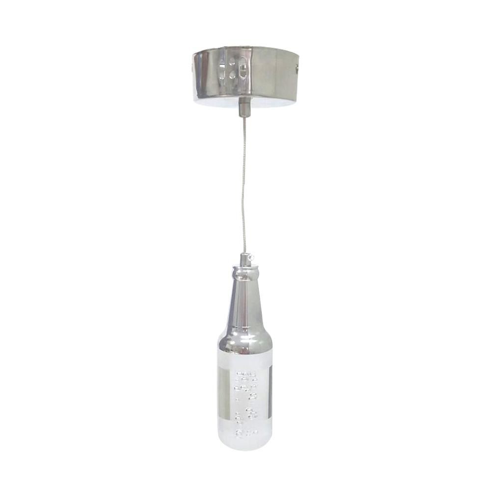 Luminária Pendente de LED Com 3 Cores de Luz