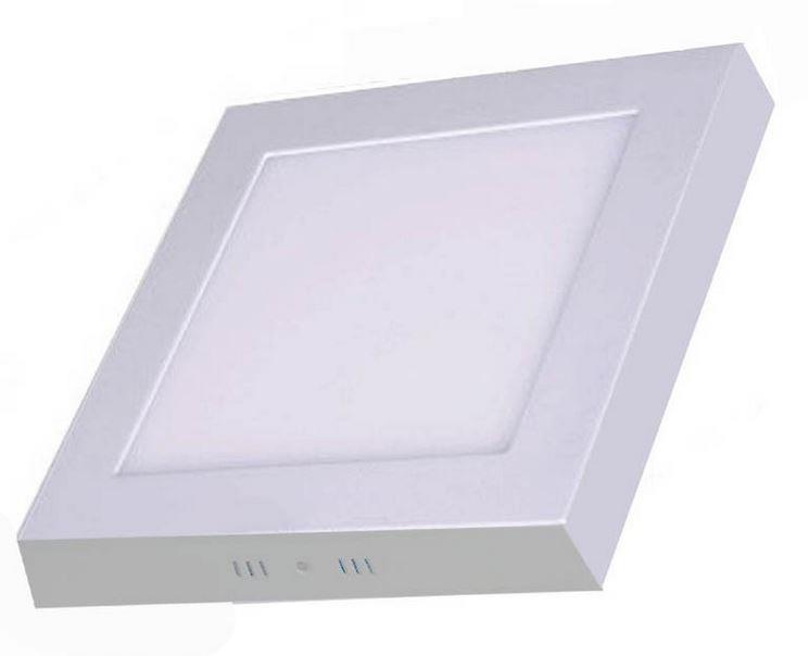 Luminária Sobrepor LED Quadrada 18W Bivolt