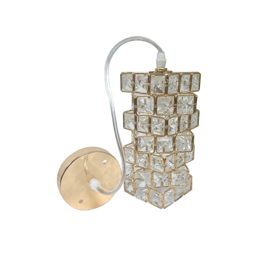 Lustre de Cristal Espiral Para Lâmpada G9 ou E27
