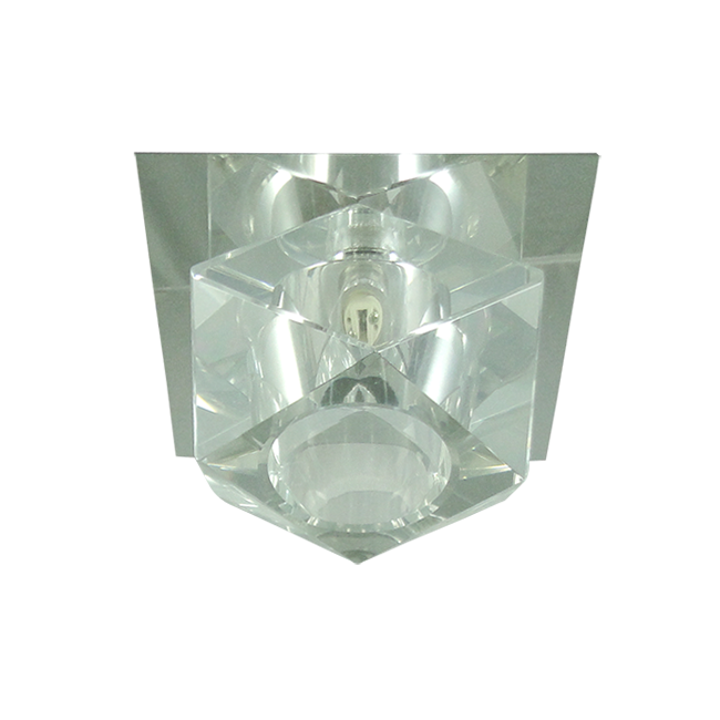 Lustre Spot Formato Diamante Cristal Para Lâmpada G9 Embutir