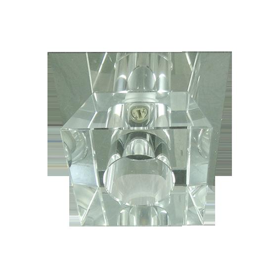 Lustre Spot Pirâmide Liso Cristal Para Lâmpada G9 Embutir