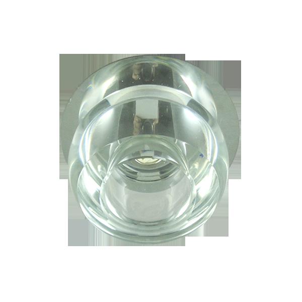 Lustre Spot Redondo Liso Cristal Para Lâmpada G9 Embutir